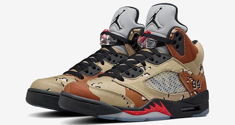 b0a2a6c319654 Supreme x Air Jordan 5 Retro 'Desert Camo' in 2019 | Shoes | Jordans ...