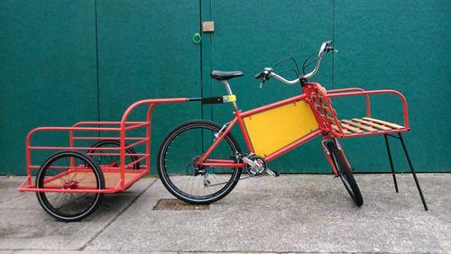 Up Cycled Open Source Cargo Bike Cargo Bike Bike Bike Trailer