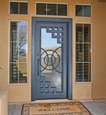 Disenos de puertas de metal para entrada principal - Puertas acristaladas exterior ...