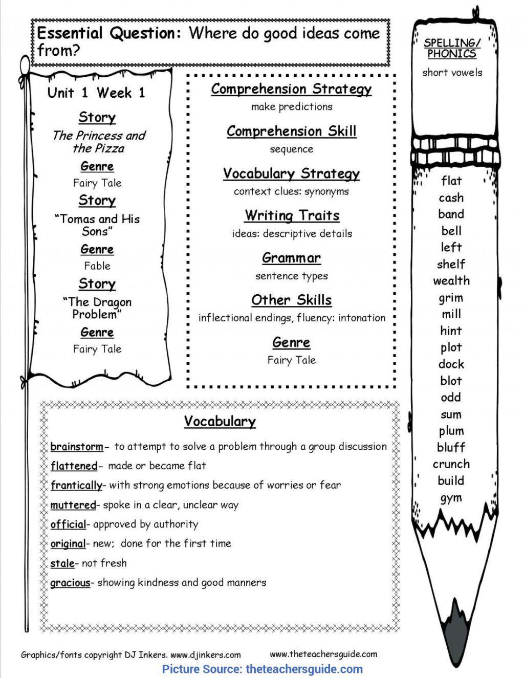 Synonym Worksheet For 2nd Grade In