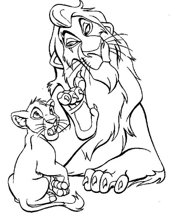 Scar Evil Plan To Simba The Lion King Coloring Page Kids Play Color Horse Coloring Pages Lion Coloring Pages Cartoon Coloring Pages