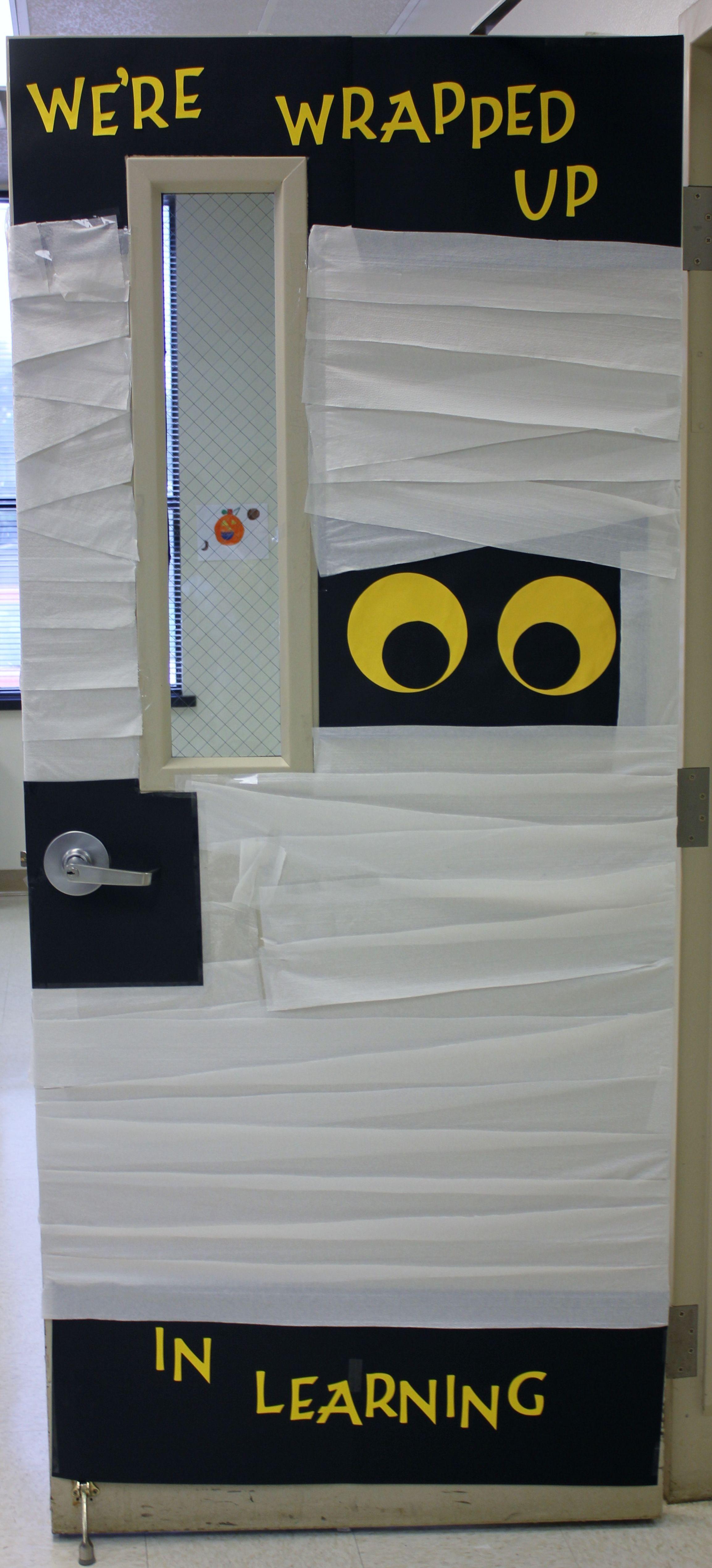 Halloween Mummy School Door Decoration Life Skills Classroom Life Skills Class School Door Decorations