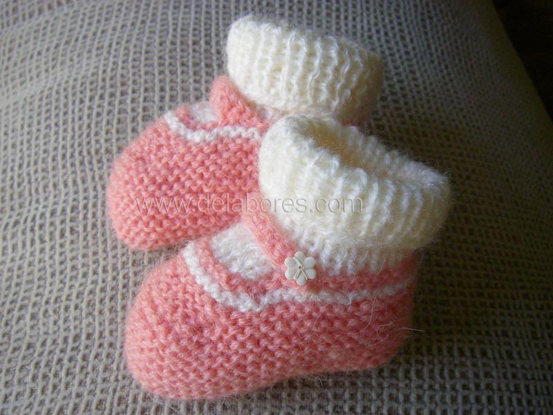 De labores patucos 4 con calcetines tejidos para los - Como hacer calcetines de punto ...