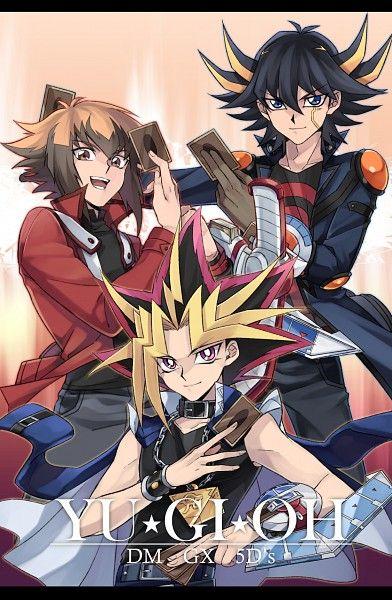Yami, Jaden, and Yusei