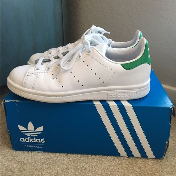 Adidas Stan Smith Sneakers Women's Size 7 (Men's 5.5) White and Green