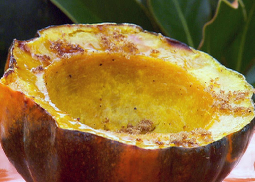 Baked Acorn Squash With Brown Sugar And Butter Recipe Acorn