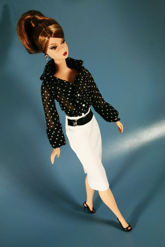 Chic in Black and White by ChicBarbieDesigns on Etsy, $26.99
