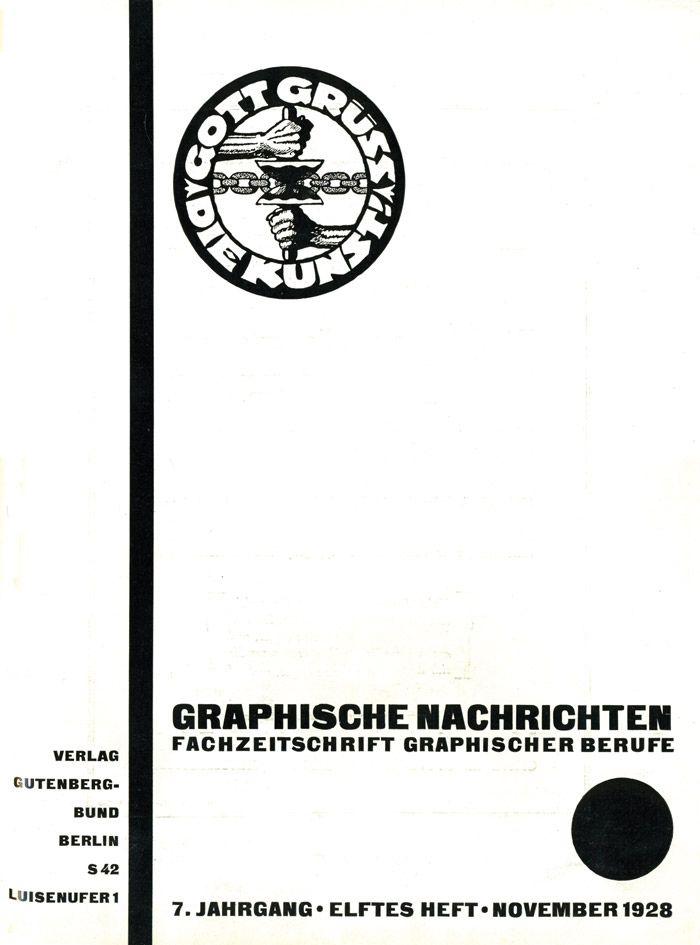 https://flic.kr/p/gU97i7 | Cover Graphische Nachrichten, 7. Jahrgang, Heft 11, November 1928