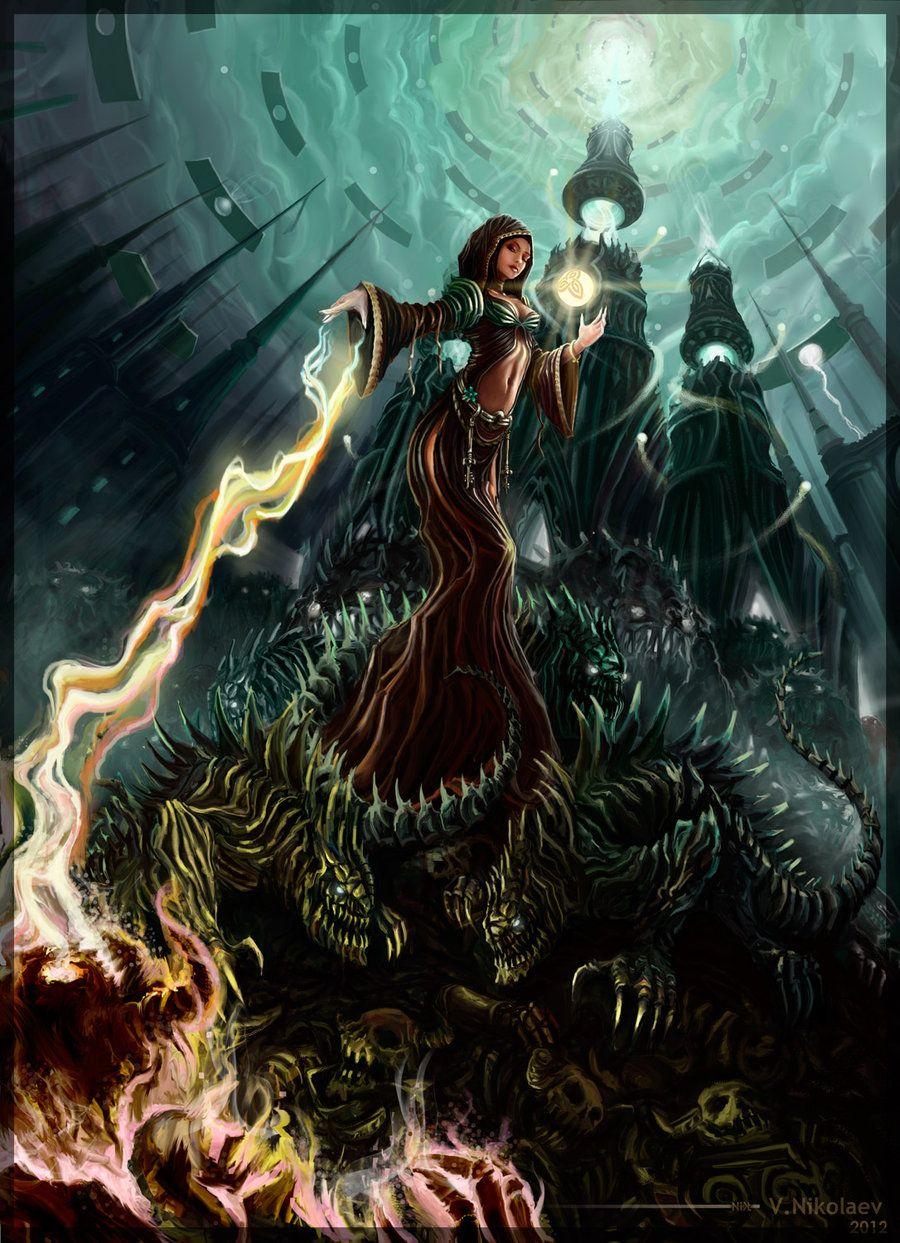 Erianna, Elemental Mage by ~Nikt2 | Magic | Pinterest ...
