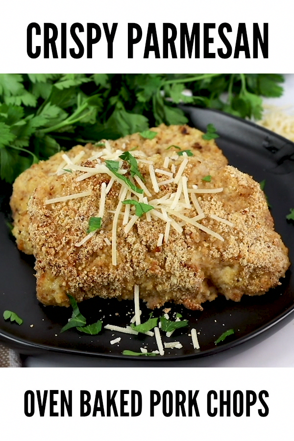 Thick and juicy, this crispy parmesan oven Baked Pork Chops recipe is delicious. The BEST pork chop recipe you'll ever need! #porkchops #weeknightdinner #dinnerrecipes #porkchoprecipes #ovenbakedporkchops Thick and juicy, this crispy parmesan oven Baked Pork Chops recipe is delicious. The BEST pork chop recipe you'll ever need! #porkchops #weeknightdinner #dinnerrecipes #porkchoprecipes #ovenbakedporkchops