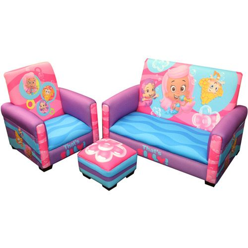 Tremendous Nickelodeon Bubble Guppies Thats Silly Toddler 3 Piece Sofa Beatyapartments Chair Design Images Beatyapartmentscom