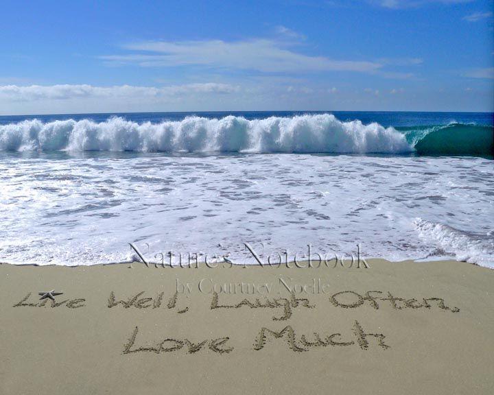 Live Laugh Love Beach Wedding Gifts Beach Beach Wall Art