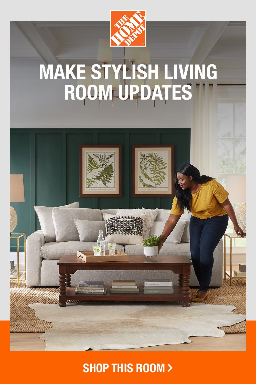 Stylish Updates For Your Living Room In 2020 Brick Fireplace Makeover Stylish Living Room Living Room Update