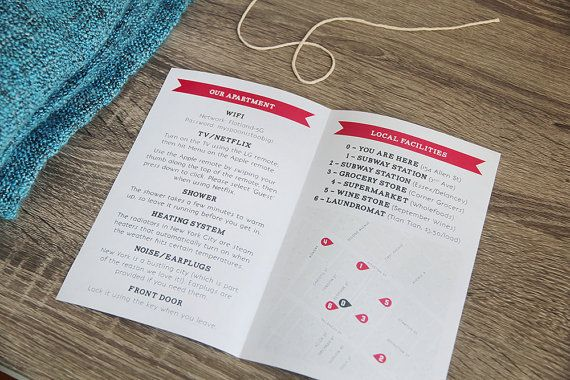 AirBnB Host Welcome Booklet DIY printable by StationeryPolkadot
