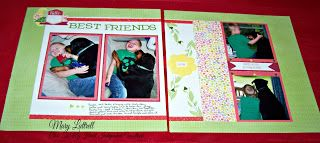 Show Me Sassy Scrappers: Best Friends Layout