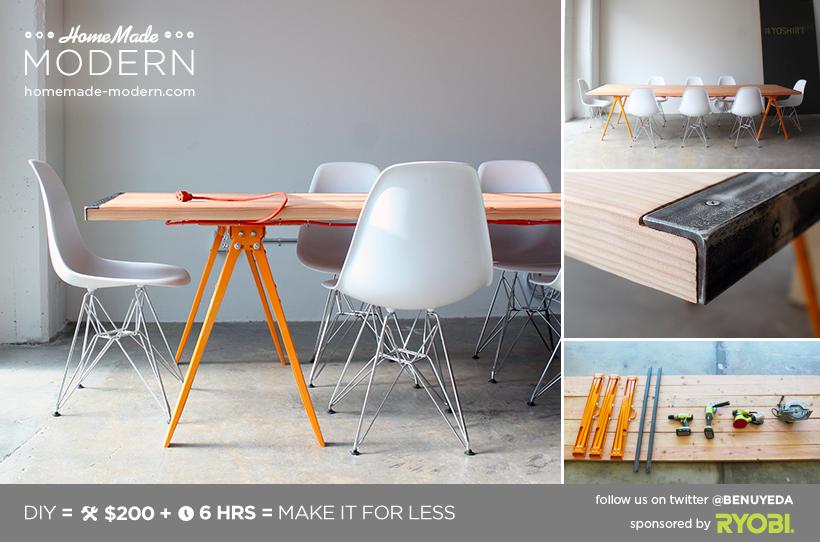 pour table ext rieure diy conference table maison design ext rieur pinterest table. Black Bedroom Furniture Sets. Home Design Ideas