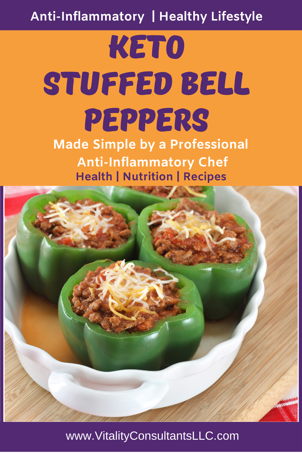 Keto Stuffed Bell Peppers Low Carb In 2020 Stuffed Peppers Anti Inflammatory Recipes Real Food Recipes