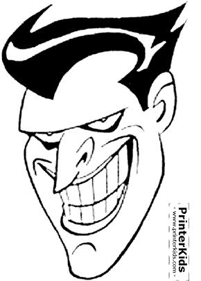 Joker Face Batman coloring page Printables Quotables