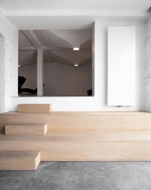 Tk architectuur woning t te zandvoorde treppen for Houten trap buiten