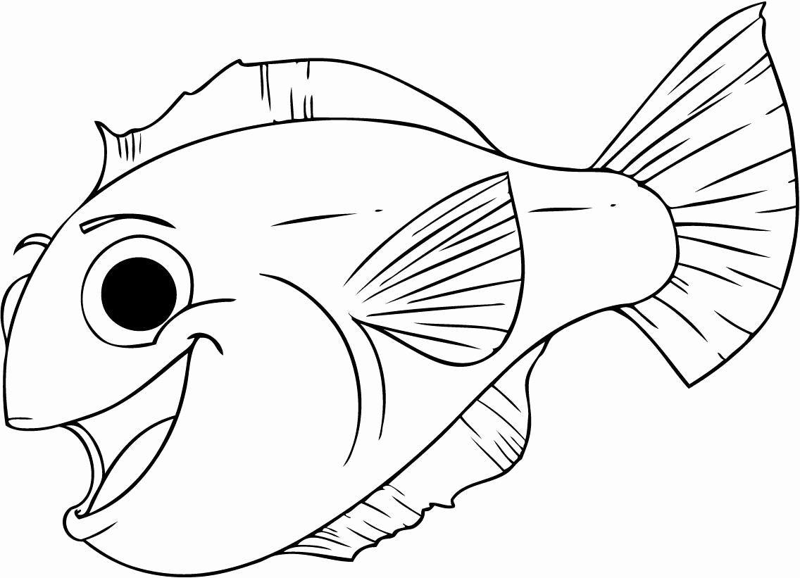 Printable Fish Coloring Pages Awesome Free Printable Fish Coloring Pages For Kids Halaman Mewarnai Buku Mewarnai Warna