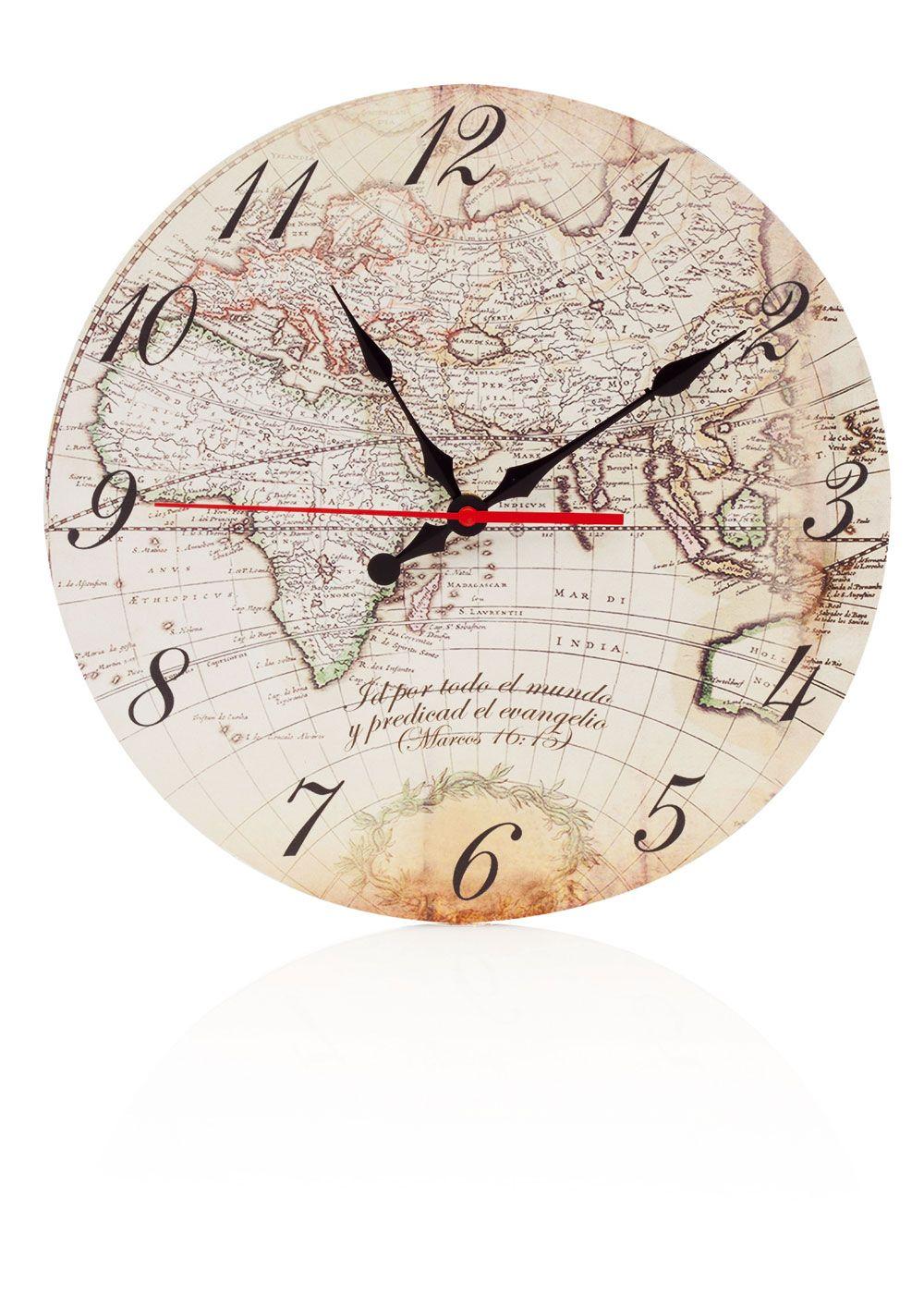 ae3a4647c6bd I want this clock!! Id por todo el mundo...Reloj de pared madera con  versículo 30x30