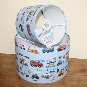 Childs traffic personalised lampshade childrens lighting childs traffic personalised lampshade childrens lighting aloadofball Image collections