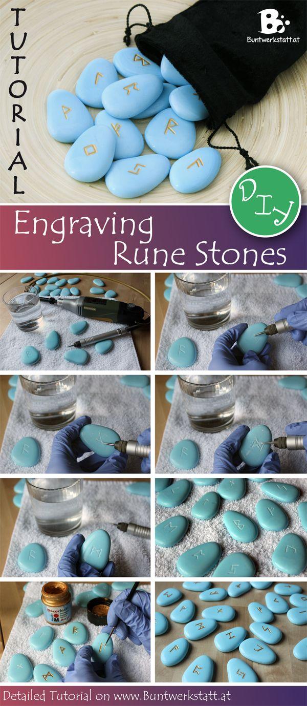 Diy Tutorial On Engraving Stones Or Runestones Anleitung Zum