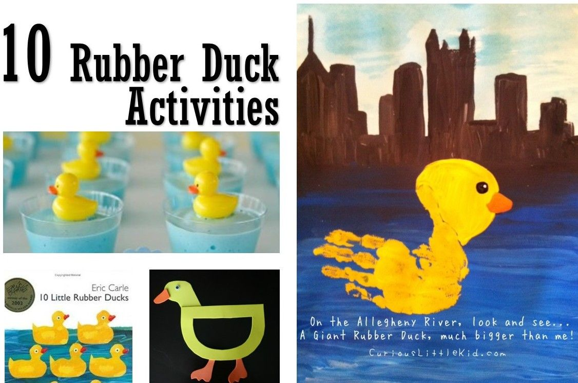 More Ideas For Have You Seen My Duckings Book Rubber Duck Eric Carle Activities Preschool Crafts