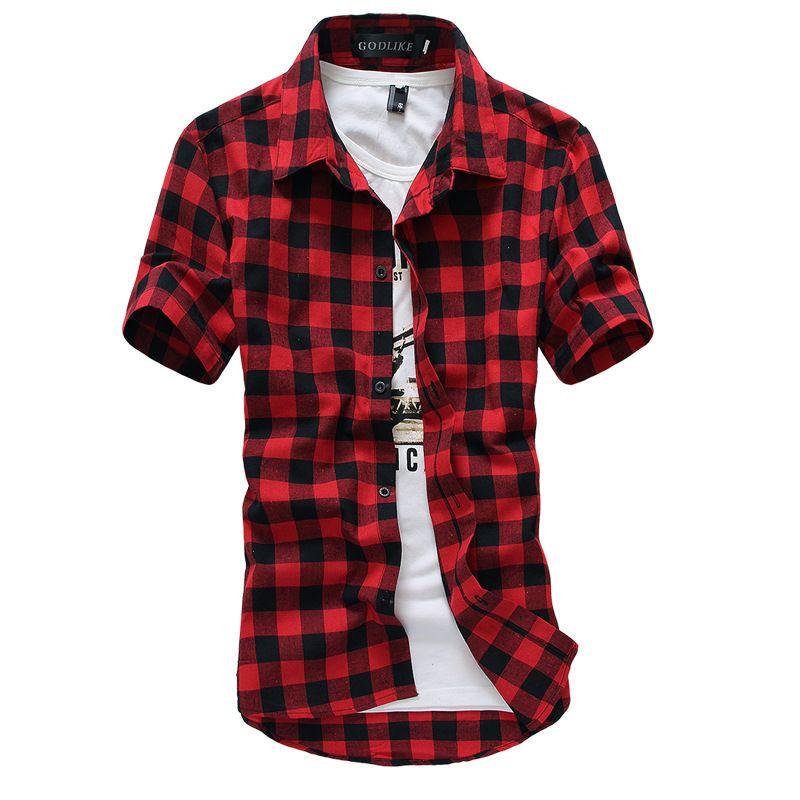 f09d0d2d9b Camisa a Cuadros Roja