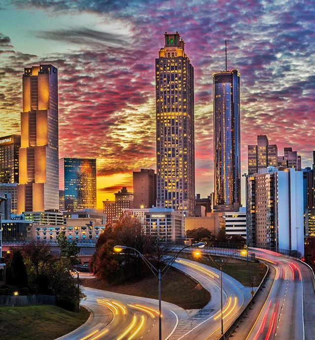 The sunset tonight in Atlanta 📸 (With images) Atlanta
