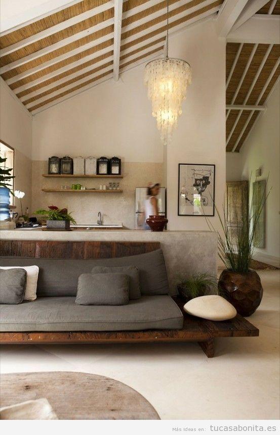 Sala de estar con decoracin estilo japons 2 interior Pinterest