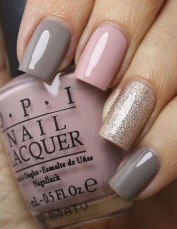 Pink grey silver glitter nail designs pinterest silver pink grey silver glitter prinsesfo Image collections
