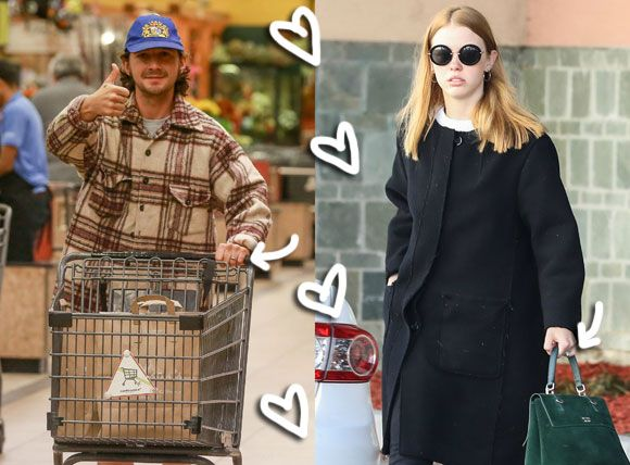 Happy Couple Shia LaBeouf Mia Goth Step Out Wearing Wedding Bands