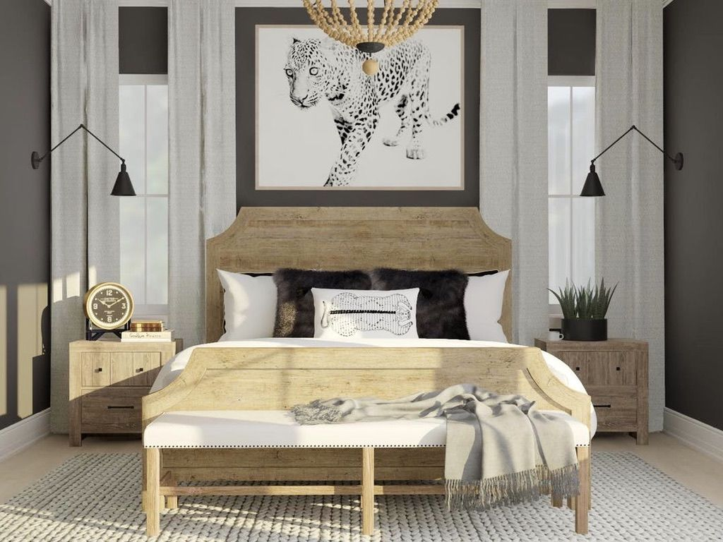 Online Interior Design With Modsy Living Rooms Dining Rooms Bedrooms More Pallet Furniture Bedroom Rustic Bedroom Design Rustic Bedroom