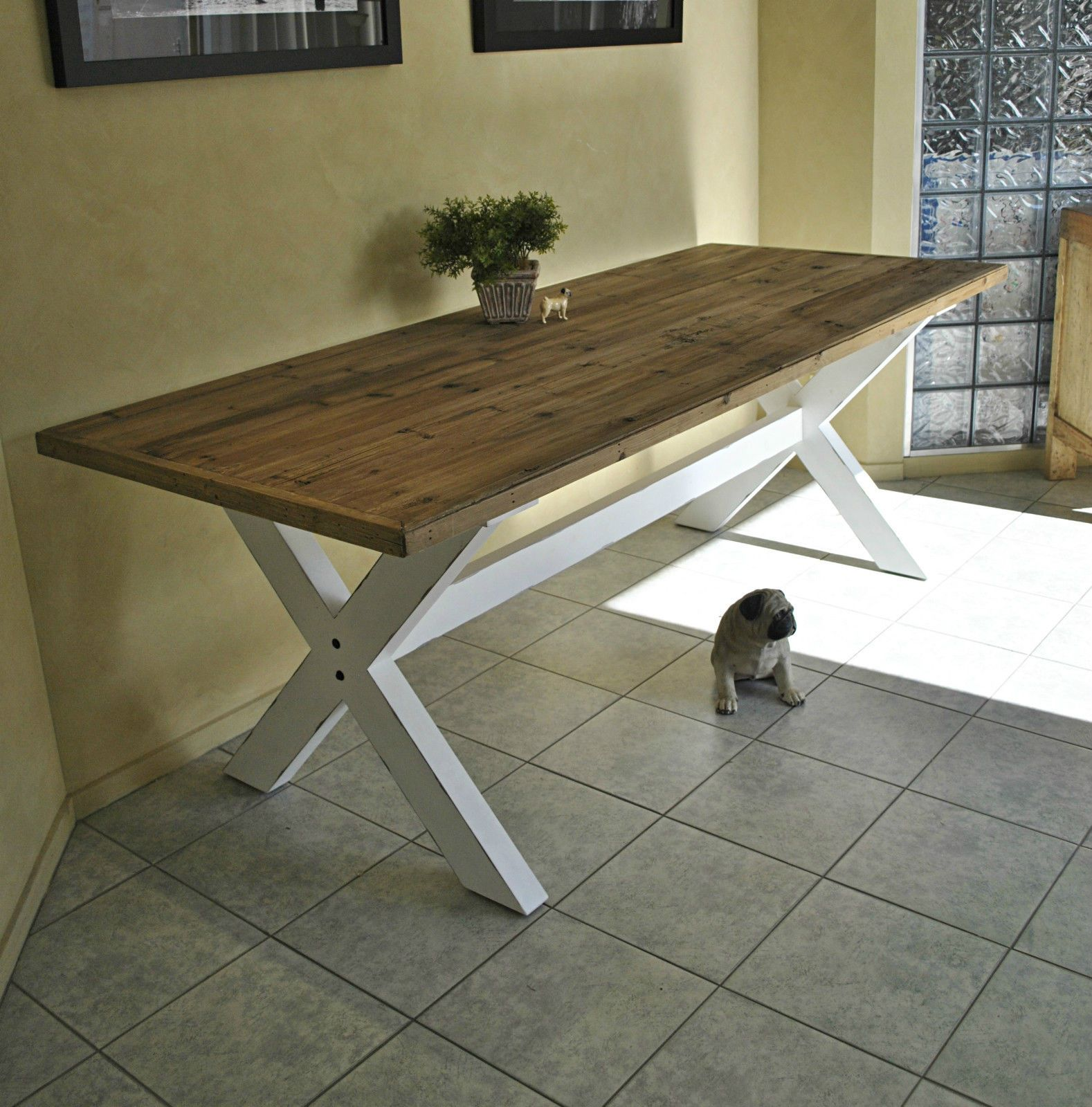 wood table white legs   Yahoo Image Search Results   Dining table ...