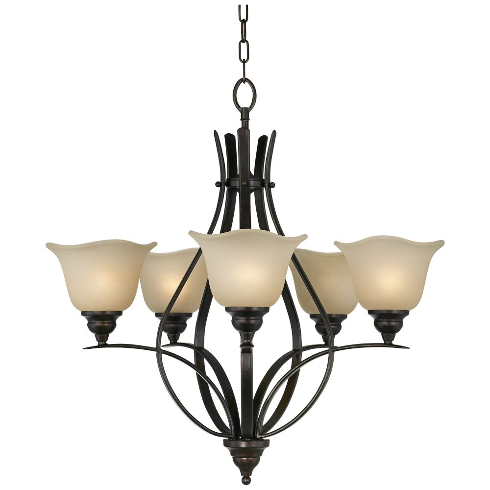 "Casual Dining Room Chandeliers: Feiss Morningside Collection 25 1/2"" Wide 5-Light"