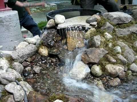 fabriquer une cascade de bassin recherche google - Fontaine De Bassin Exterieur
