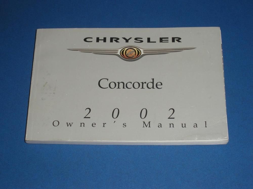 2002 Chrysler Concorde Owners Manual Book Guide Chrysler Concorde Owners Manuals Concorde