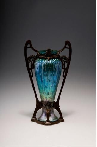 Vase with brass mounting circa 1905 quittenbaum kunstauktionen art nouveau and art deco