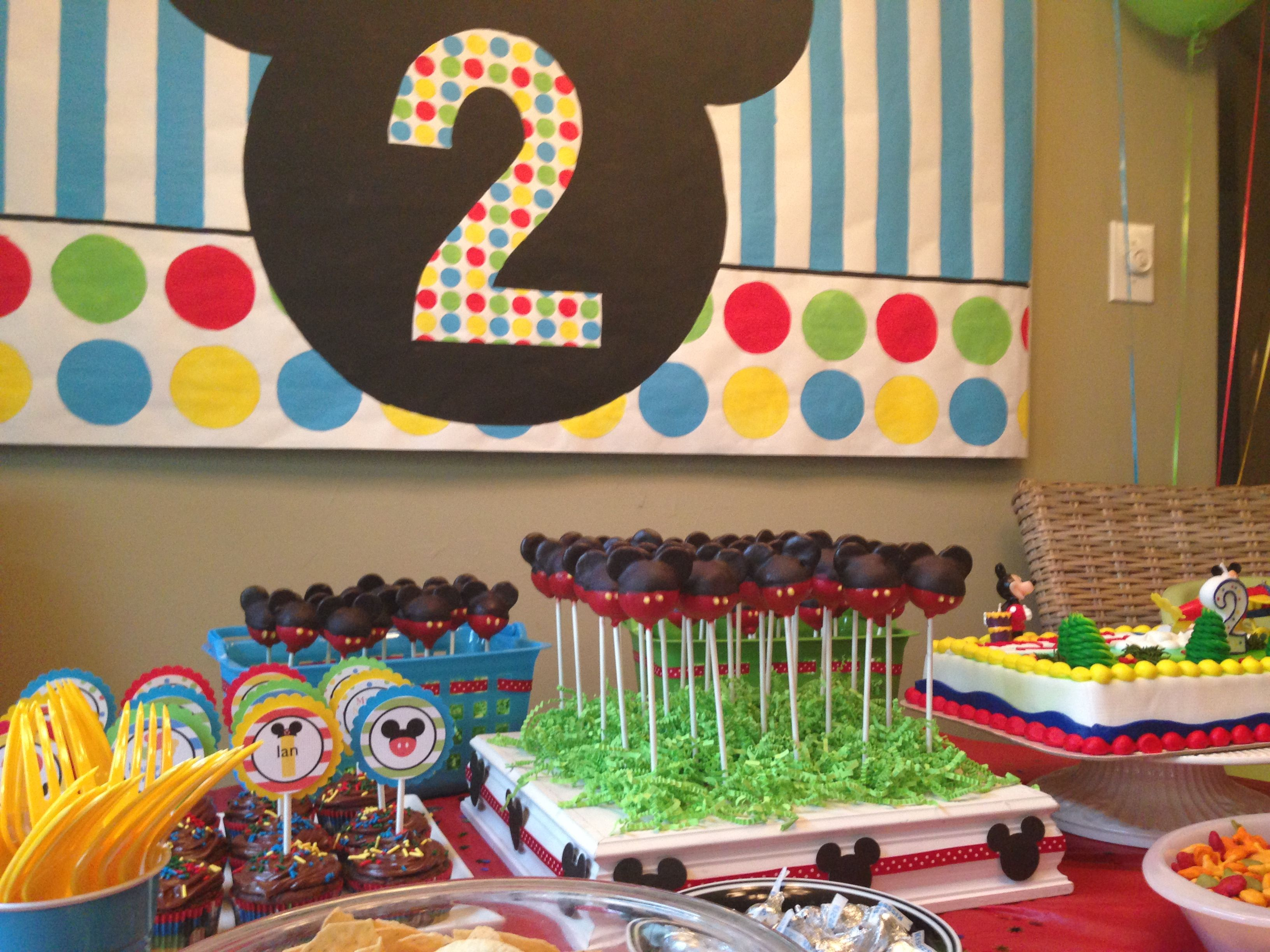 Mickey Mouse Birthday Party For A Two Year Old Indoor 2
