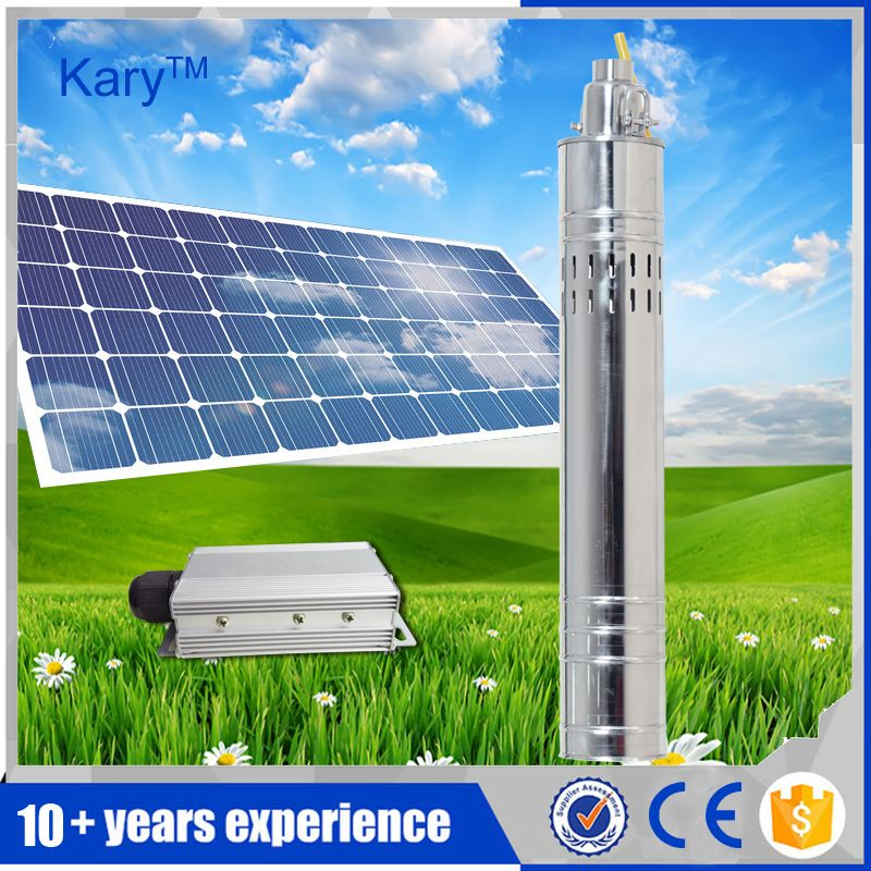 Kary High Pressure 48v Dc Solar Submersible Pump Stainless Steel Screw Pump 1 Hp Solar Water Pump With Internal Controller Solar