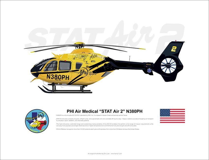 Phi Air Medical Airbus Ec135 Med 2 N330ph Flight Paramedic Medical Flight Nurse