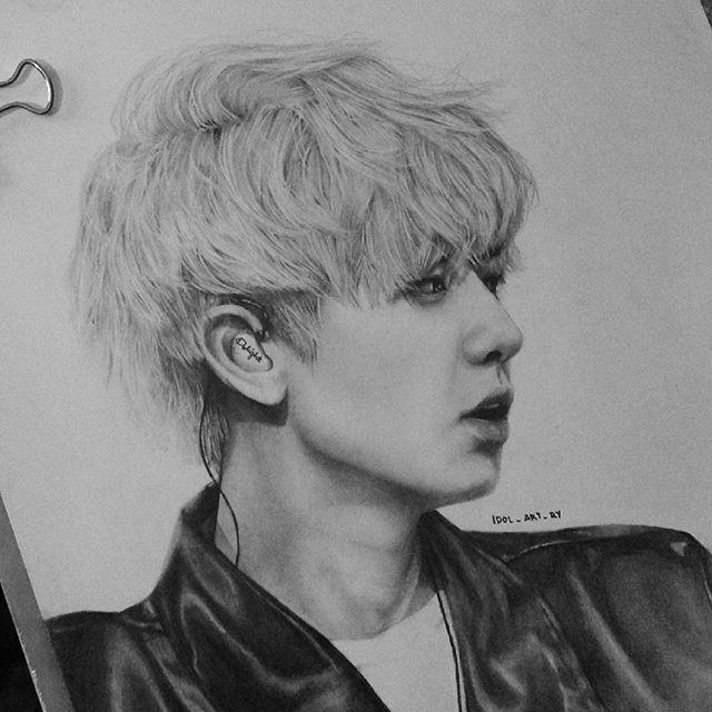 drawing 26 091215 this is still a wip but and he looks like sehun whyyyyyyy chanyeol parkchanyeol exo exok exofanart fanart kpop kpopfanart