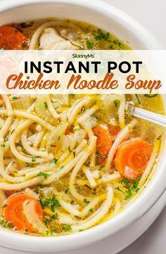 Instant Pot Chicken Noodle Soup #instantpotrecipes