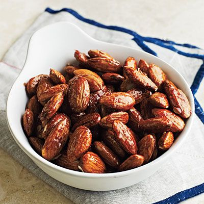 Honey-Glazed Almonds - Healthy Snack Recipes - Cooking Light