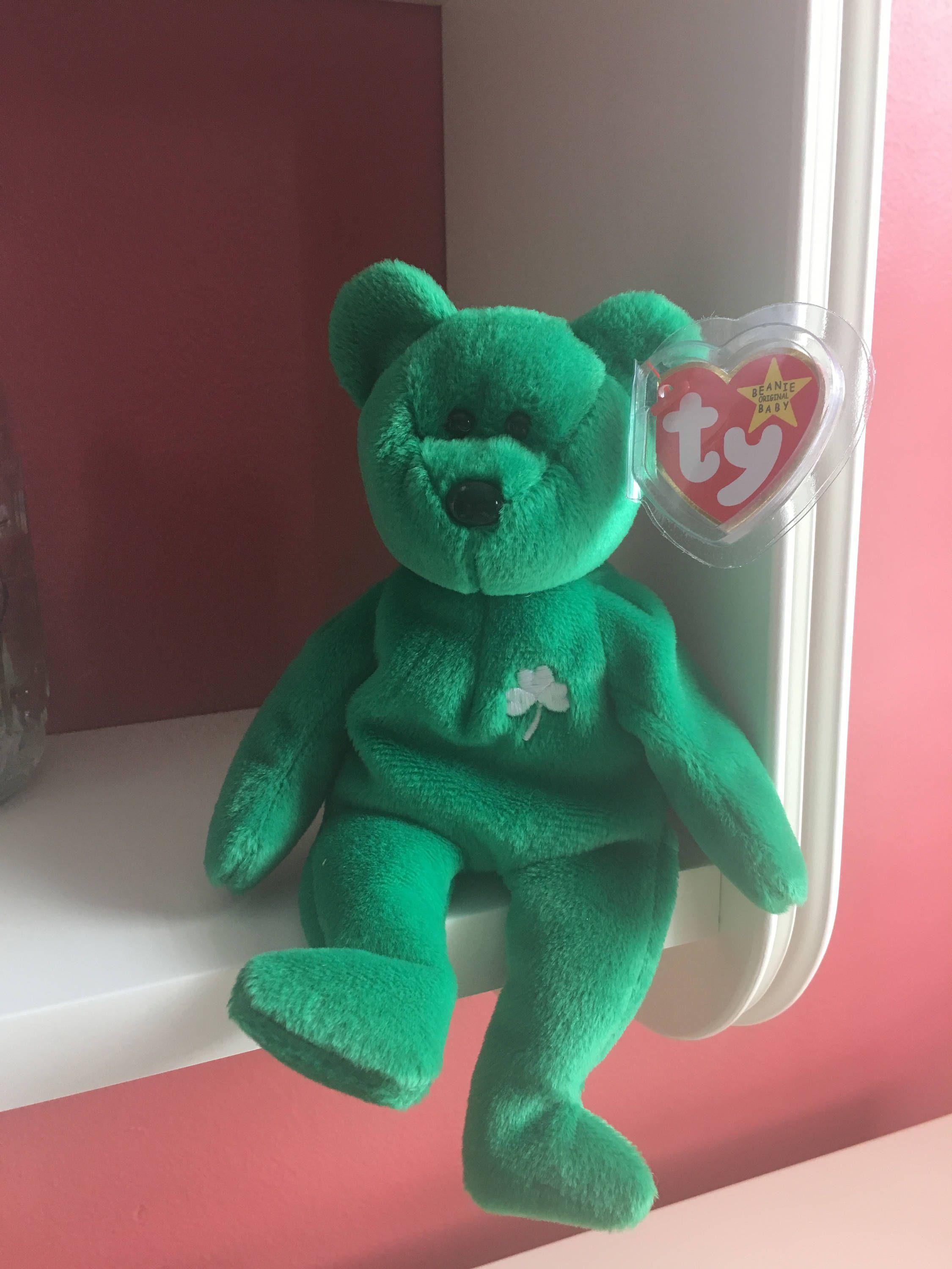 Mint Condition Rare Retired Irish Erin Teddy Bear Ty Beanie Baby with Mint  Tags  ab1c8e73e8e1