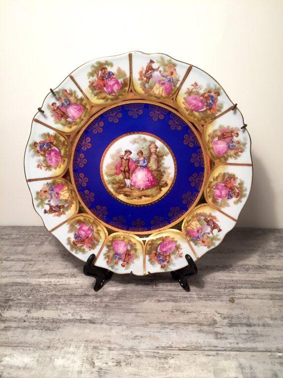 Vintage Jkw Decor Carlsbad Bavaria Love Story Plate Royalvienna