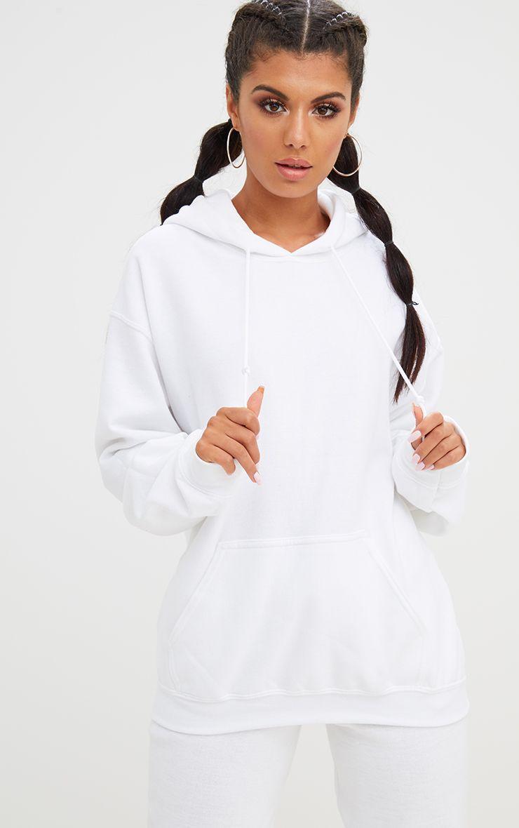 White Ultimate Oversized Hoodie White Sweatshirt Women Sweatshirts Sweaters For Women [ 1180 x 740 Pixel ]