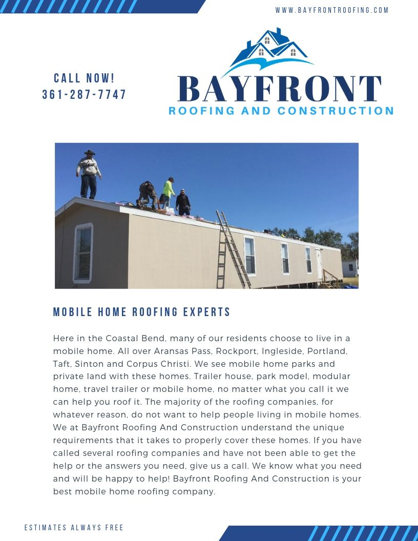 Mobile Home Roofing (With images) Roofing, Mobile home