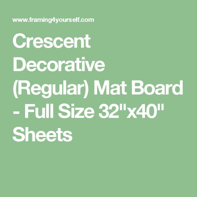 Crescent Decorative Regular Mat Board Full Size 32 X40 Sheets Mat Board Bainbridge Mats